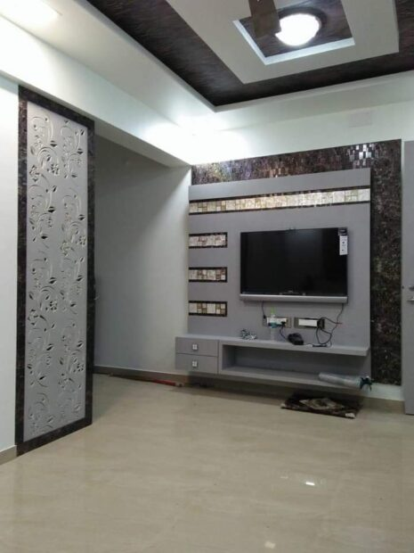 tv unit on wall